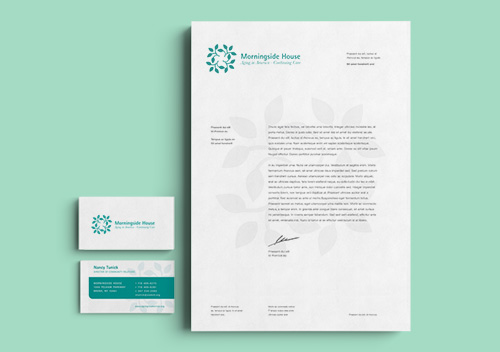 Morningside House Logo & Letterhead Design